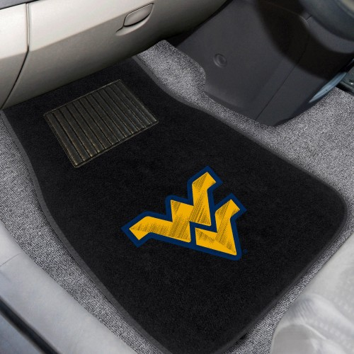 West Virginia 2-pc Embroidered Car Mats 18