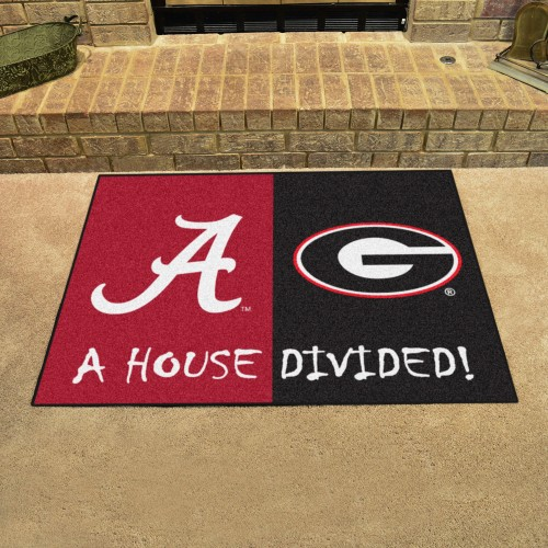 Alabama - Georgia House Divided Rug 33.75