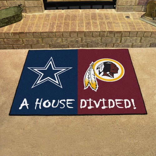 "NFL - Cowboys - Washington House Divided Rug 33.75""x42.5"""