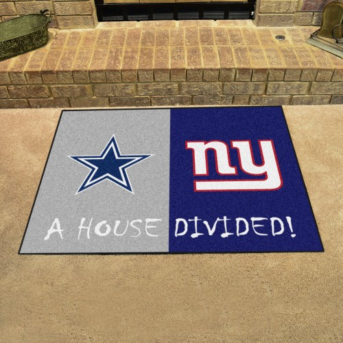 NFL - Cowboys - Giants House Divided Rug 33.75