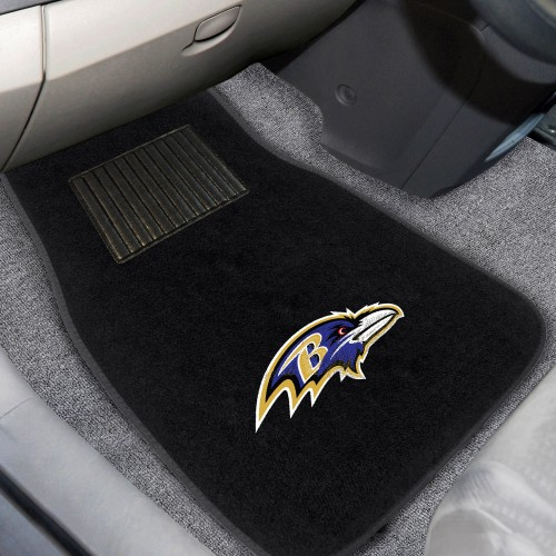 NFL - Baltimore Ravens 2-pc Embroidered Car Mats 18