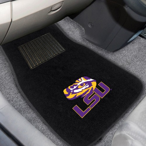 LSU 2-pc Embroidered Car Mats 18