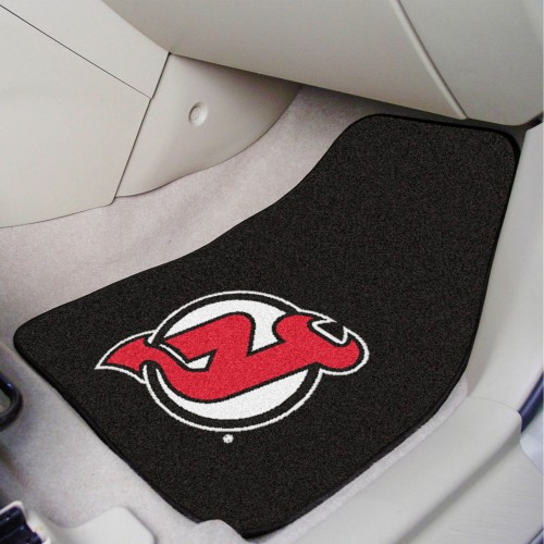 NHL - New Jersey Devils 2-pc Printed Carpet Car Mats 17