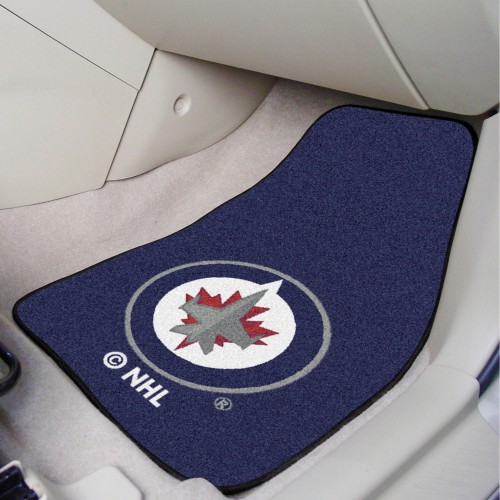 NHL - Winnipeg Jets 2-pc Printed Carpet Car Mat Set