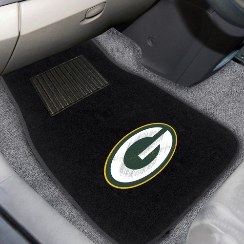 NFL - Green Bay Packers 2-pc Embroidered Car Mats 18