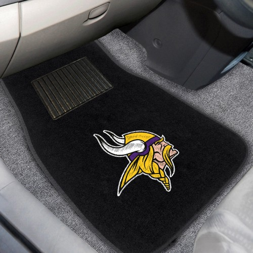 NFL - Minnesota Vikings 2-pc Embroidered Car Mats 18