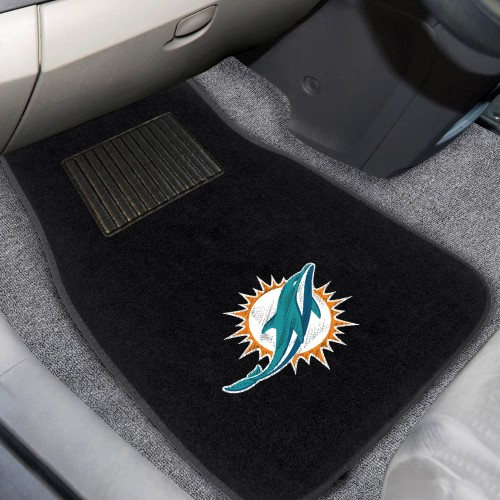 NFL - Miami Dolphins 2-pc Embroidered Car Mats 18