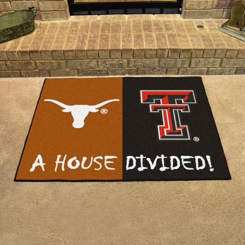 Texas - Texas Tech House Divided Rug 33.75