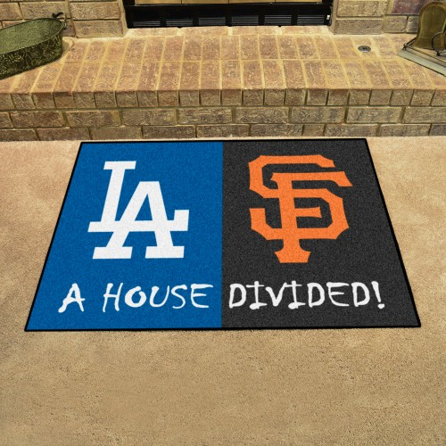 MLB - Dodgers - Giants House Divided Rug 33.75