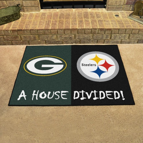 NFL - Packers - Steelers House Divided Mat