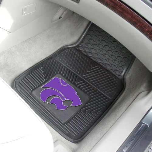 Kansas State 2-pc Vinyl Car Mats 17