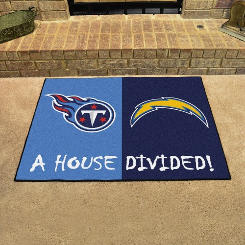 NFL - Chargers - Titans House Divided Rug 33.75