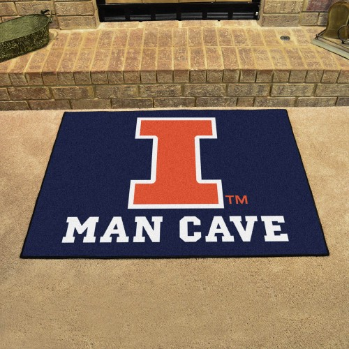 Illinois Man Cave All-Star Mat 33.75