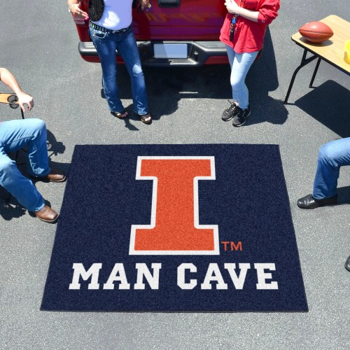 Illinois Man Cave Tailgater Rug 5'x6'