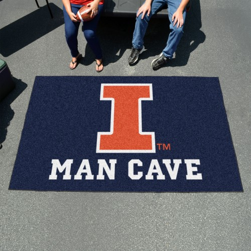 Illinois Man Cave UltiMat 5'x8' Rug