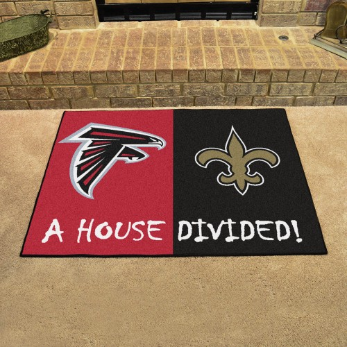"NFL - Falcons - Saints House Divided Rug 33.75""x42.5"""