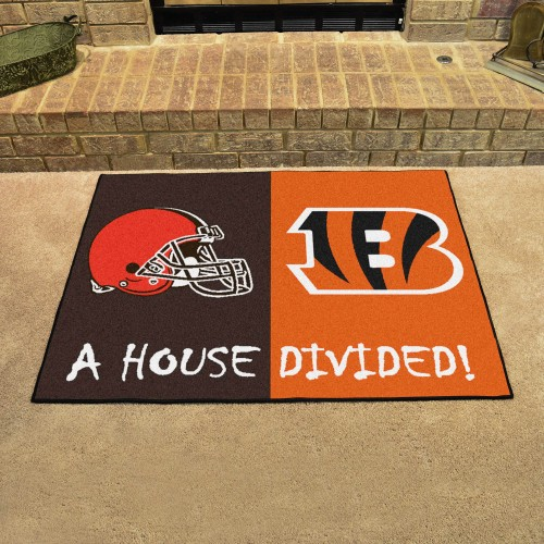 NFL - Bengals - Browns House Divided Rug 33.75