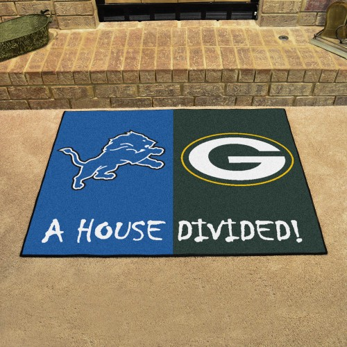 NFL - Lions - Packers House Divided Rug 33.75
