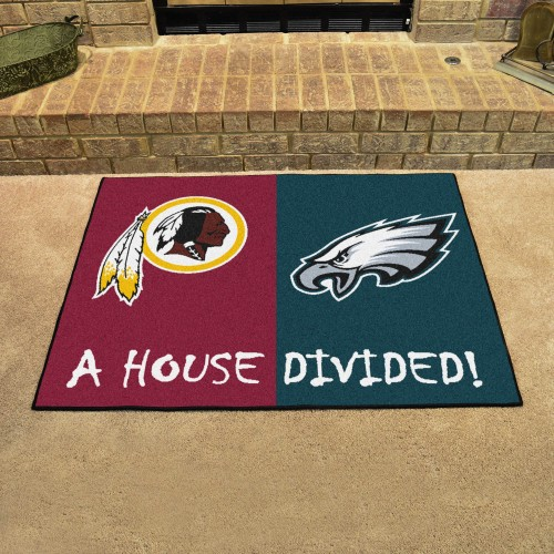 "NFL - Washington - Eagles House Divided Rug 33.75""x42.5"""