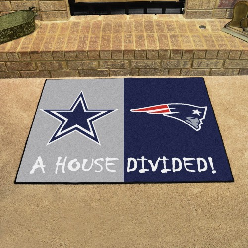 NFL - Cowboys - Patriots House Divided Rug 33.75