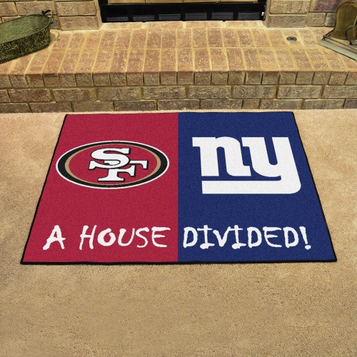 NFL - 49ers - Giants House Divided Rug 33.75
