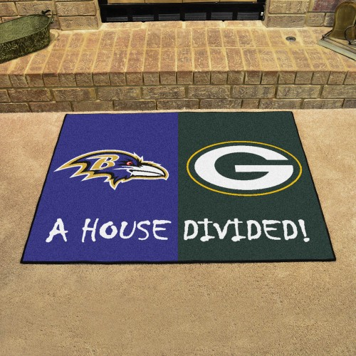 NFL - Ravens - Packers House Divided Rug 33.75