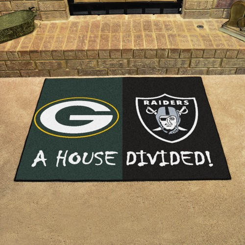 NFL - Packers - Raiders House Divided Rug 33.75