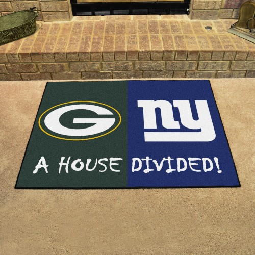 NFL - Packers - Giants House Divided Rug 33.75