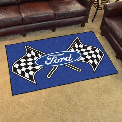 Ford Flags 4'x6' Rug - Blue