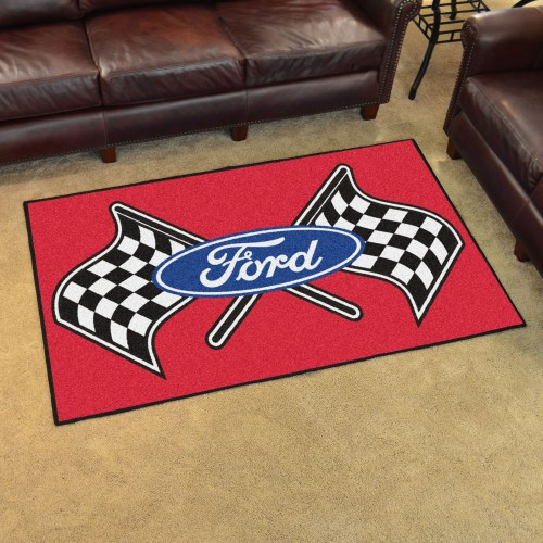 Ford Flags 4'x6' Rug - Red