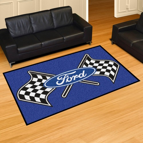 Ford Flags 5'x8' Rug - Blue