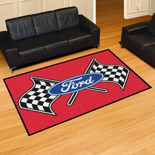 Ford Flags 5'x8' Rug - Red