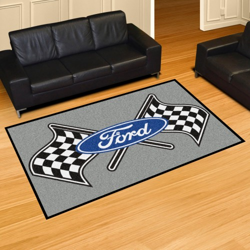 Ford Flags 5'x8' Rug - Gray