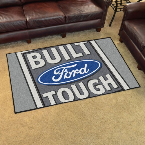 Built Ford Tough 4'x6' Rug Gray