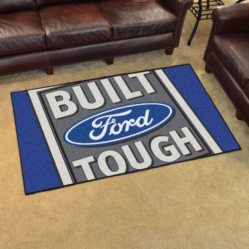 Built Ford Tough 4'x6' Rug- Blue