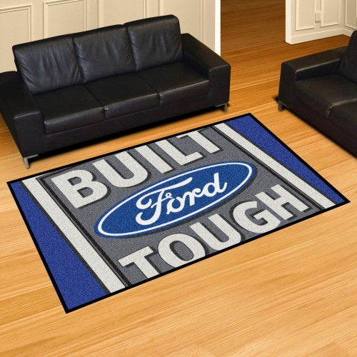 Built Ford Tough 5'x8' Rug- Blue