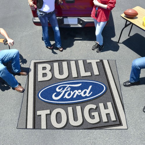 Built Ford Tough Tailgater Rug 5'x6' Gray