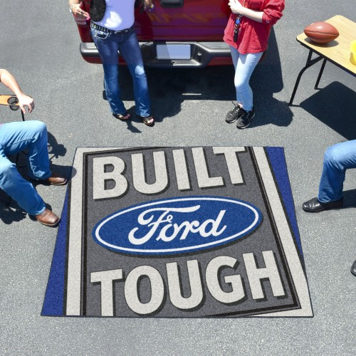 Built Ford Tough Tailgater Rug 5'x6' - Blue