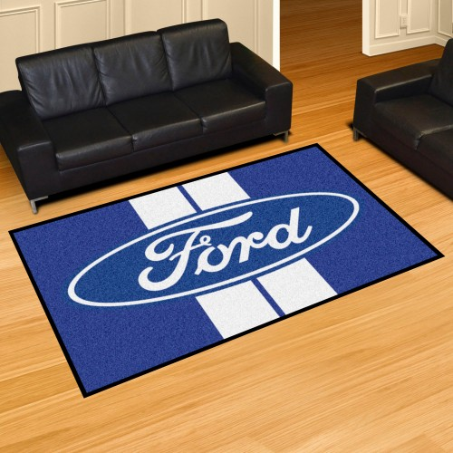 Ford Oval with Stripes 5'x8' Rug - Blue