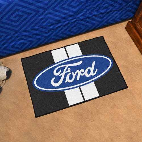 Ford Oval with Stripes Starter Rug 19
