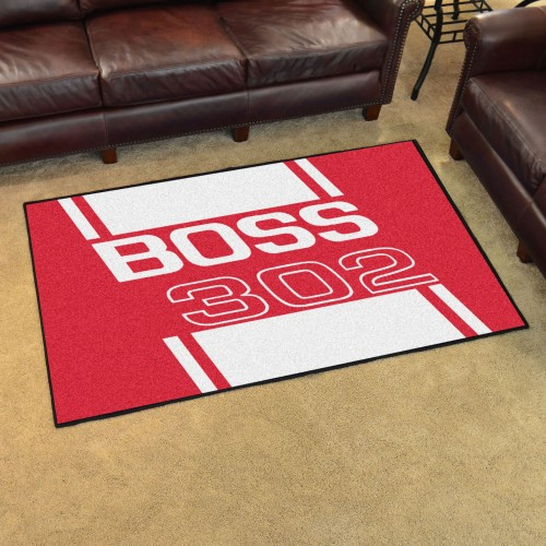 Boss 302 4'x6' Rug - Red