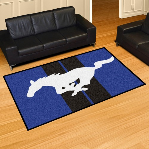 Mustang Horse 5'x8' Rug - Blue