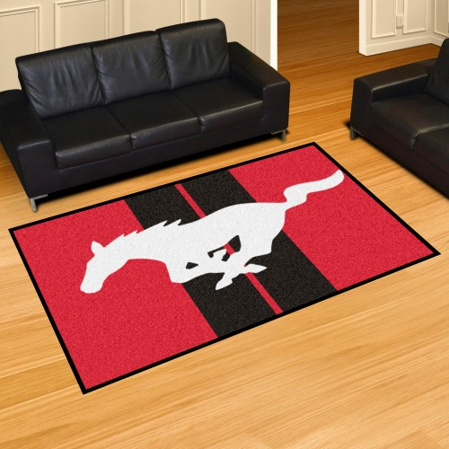 Mustang Horse 5'x8' Rug - Red
