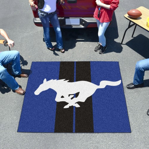 Mustang Horse Tailgater Rug 5'x6' - Blue
