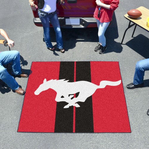 Mustang Horse Tailgater Rug 5'x6' - Red