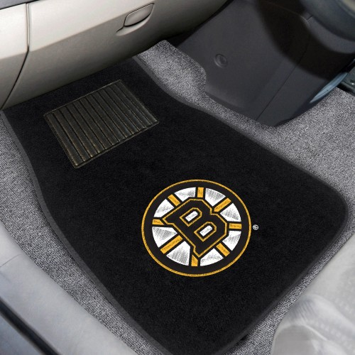 NHL - Boston Bruins 2-pc Embroidered Car Mats 18