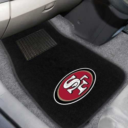 NFL - San Francisco 49ers 2-pc Embroidered Car Mats 18
