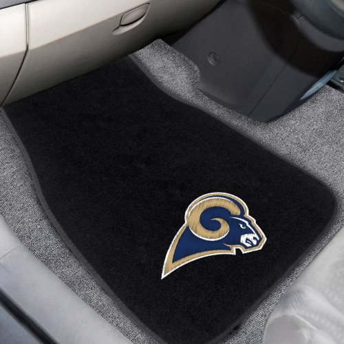NFL - Los Angeles Rams 2-pc Embroidered Car Mats 18
