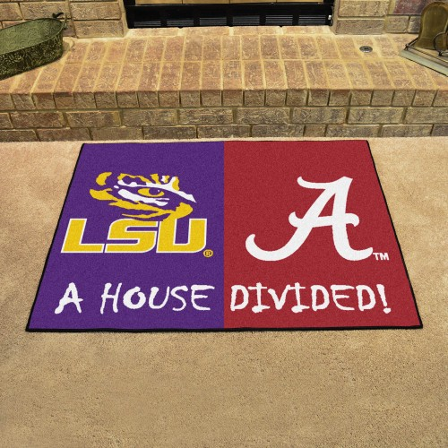LSU - Alabama House Divided Rug 33.75
