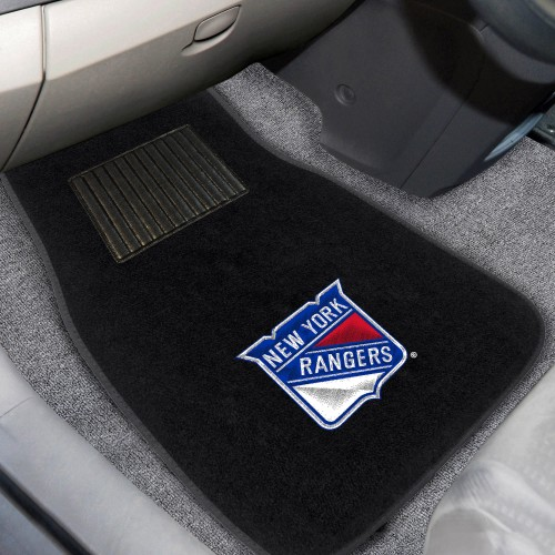 NHL - New York Rangers 2-pc Embroidered Car Mats 18